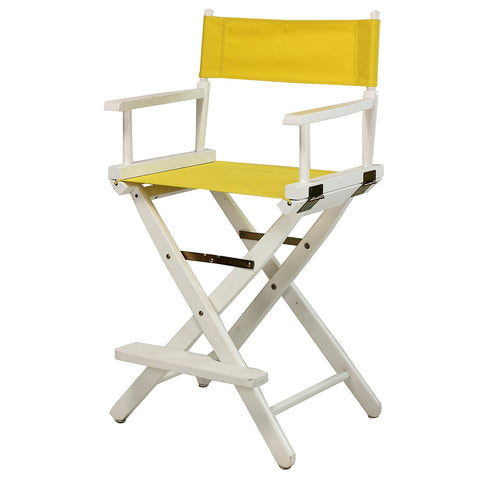 "Casual Home 24"" Director's Chair White Frame-Yellow Canvas - 220-01/021-14-Chairs-HipBeds.com"