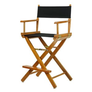 "Casual Home 30"" Director's Chair Honey Oak Frame-Black Canvas - 230-05/021-15-Chairs-HipBeds.com"