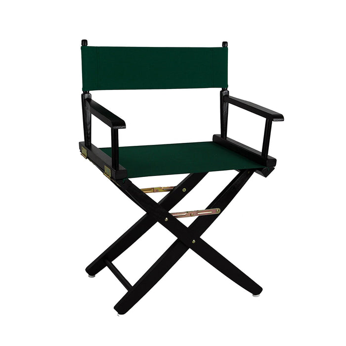 "American Trails Extra-Wide Premium 18""  Directors Chair Black Frame W/Black Color Cover - 206-02/032-15"