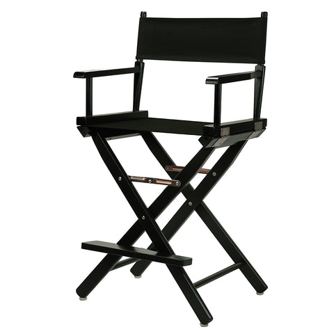 "Casual Home 24"" Director's Chair Black Frame-Black Canvas - 220-02/021-15-Chairs-HipBeds.com"