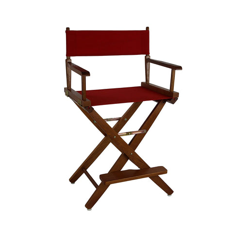"American Trails Extra-Wide Premium 24"" Directors Chair Mission Oak Frame W/Red Color Cover - 206-24/032-11-Chairs-HipBeds.com"