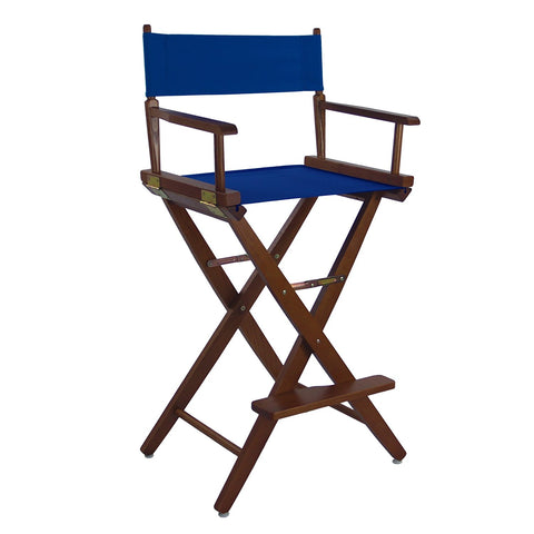 "American Trails Extra-Wide Premium 30"" Directors Chair Mission Oak Frame W/Royal Blue Color Cover - 206-34/032-13-Chairs-HipBeds.com"