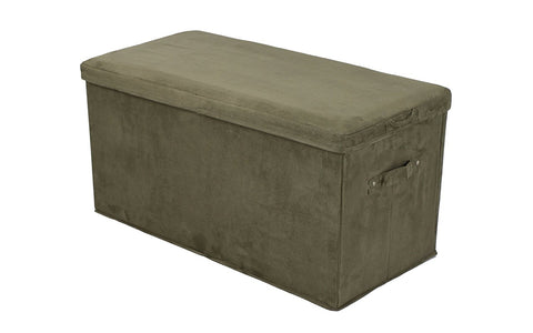 Casual Home Seat Pad Folding Storage Bench. Micro Suede Cover-Brown - 112-73-Benches-HipBeds.com