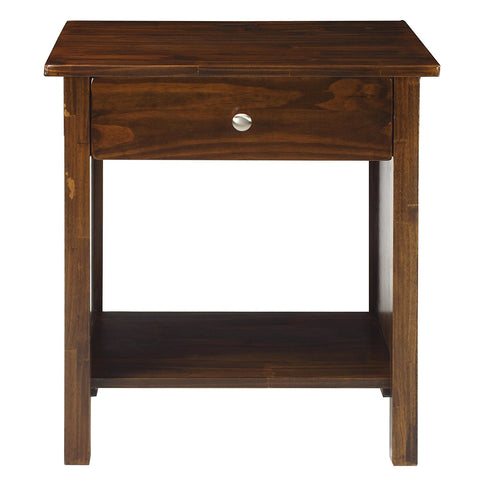Casual Home Vanderbilt Night Stand with USB Port-Warm Brown - 360-24-Nightstands-HipBeds.com