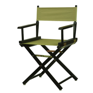 "Casual Home 18"" Director's Chair Black Frame-Tan Canvas - 200-02/021-24-Chairs-HipBeds.com"