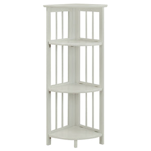 Casual Home 4-Shelf Corner Folding Bookcase-White - 315-11-Bookcases-HipBeds.com
