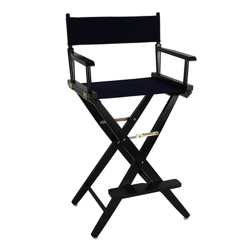 "American Trails Extra-Wide Premium 30"" Directors Chair Black Frame W/Navy Color Cover - 206-32/032-10-Chairs-HipBeds.com"