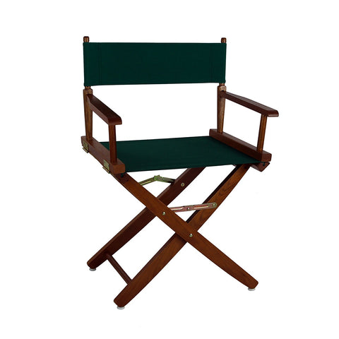 "American Trails Extra-Wide Premium 18"" Directors Chair Mission Oak Frame W/Black Color Cover - 206-04/032-15-Chairs-HipBeds.com"