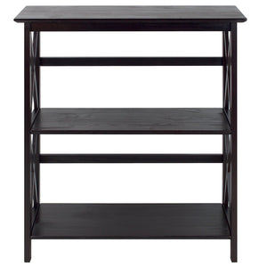 Casual Home Montego 3-Shelf Bookcase-Espresso - 324-33-Bookcases-HipBeds.com