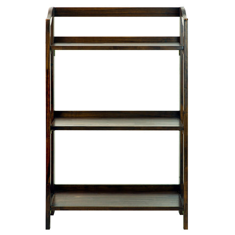 Casual Home Stratford 3-Shelf Folding Bookcase-Warm Brown - 337-34-Bookcases-HipBeds.com