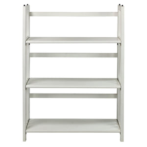 "Casual Home 3-Shelf Folding Bookcase 14"" Wide-White - 331-31-Bookcases-HipBeds.com"