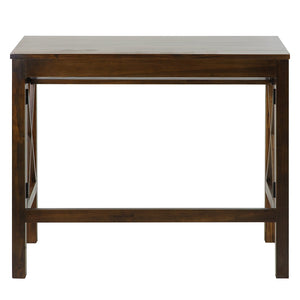 Casual Home Montego Folding Desk with Pull-Out-Warm Brown - 533-34-Tables-HipBeds.com