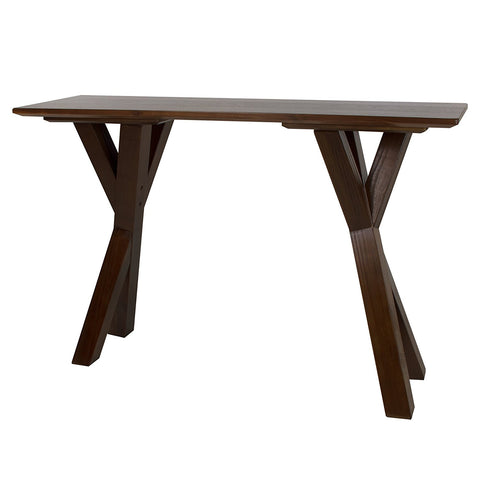 "American Trails Ridgefield Console Table with 1"" Thick Solid Walnut Wood Top - 625-63-Console Tables-HipBeds.com"