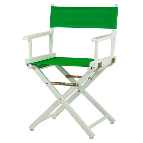 "Casual Home 18"" Director's Chair White Frame-Green Canvas - 200-01/021-33-Chairs-HipBeds.com"