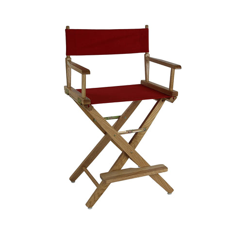 "American Trails Extra-Wide Premium 30"" Directors Chair Natural Frame W/Red Color Cover - 206-30/032-11-Chairs-HipBeds.com"