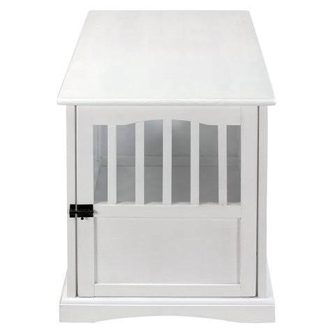 Casual Home Pet Crate End Table-White - 600-41-Tables-HipBeds.com