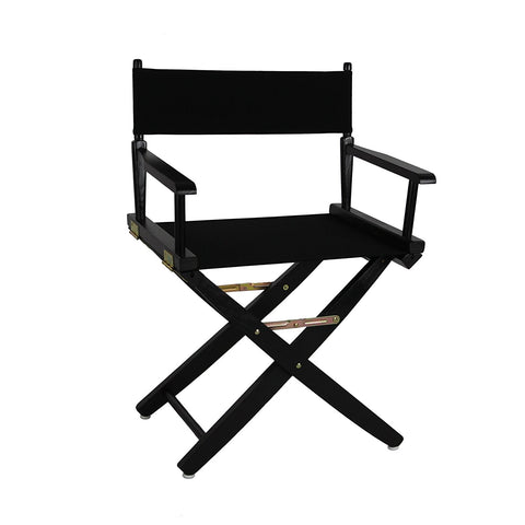 "American Trails Extra-Wide Premium 18"" Directors Chair Black Frame W/Royal Blue Color Cover - 206-02/032-13-Chairs-HipBeds.com"