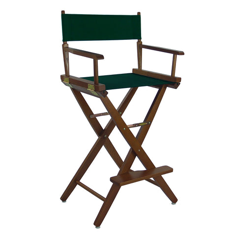 "American Trails Extra-Wide Premium 30"" Directors Chair Mission Oak Frame W/Hunter Green Color Cover - 206-34/032-32-Chairs-HipBeds.com"