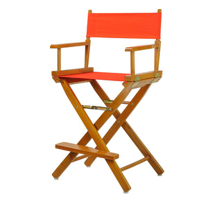 "Casual Home 24"" Director's Chair Honey Oak Frame-Orange Canvas - 220-05/021-19-Chairs-HipBeds.com"