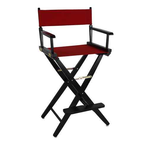 "American Trails Extra-Wide Premium 30"" Directors Chair Black Frame W/Red Color Cover - 206-32/032-11-Chairs-HipBeds.com"