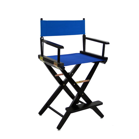 "American Trails Extra-Wide Premium 24"" Directors Chair Black Frame W/Royal Blue Color Cover - 206-22/032-13-Chairs-HipBeds.com"