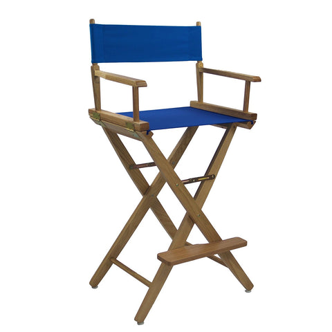"American Trails Extra-Wide Premium 30"" Directors Chair Natural Frame W/Royal Blue Color Cover - 206-30/032-13-Chairs-HipBeds.com"