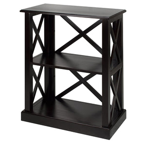 Casual Home Bay View 3-Shelf Bookcase-Black - 363-32-Bookcases-HipBeds.com