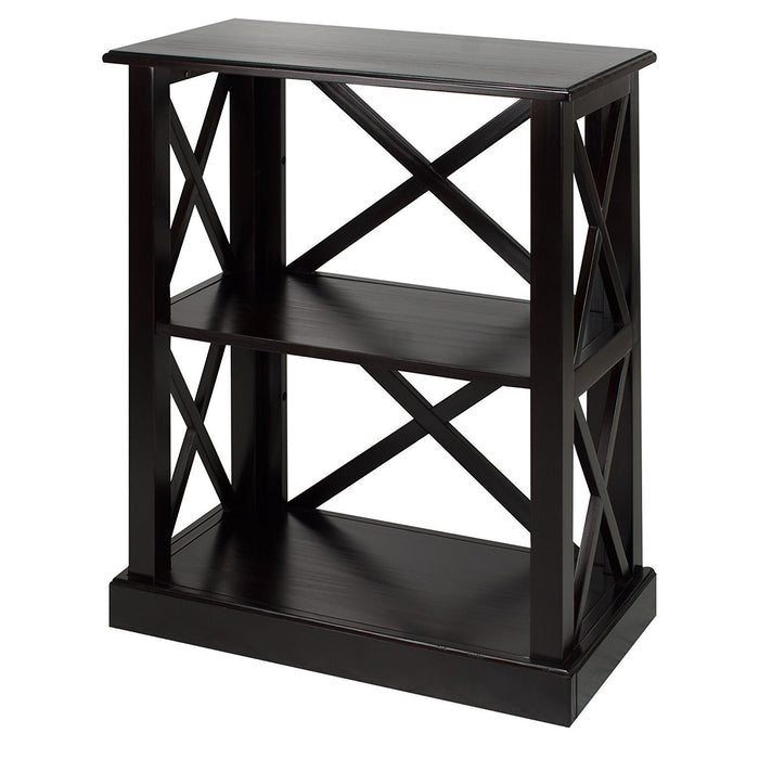Casual Home Bay View 3-Shelf Bookcase-Black - 363-32