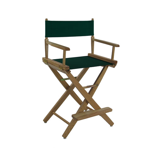 "American Trails Extra-Wide Premium 24"" Directors Chair Mission Oak Frame W/Hunter Green Color Cover - 206-24/032-32-Chairs-HipBeds.com"