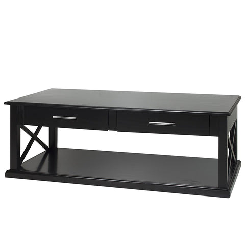 Casual Home Bay View Coffee Table-Black - 363-22-Tables-HipBeds.com