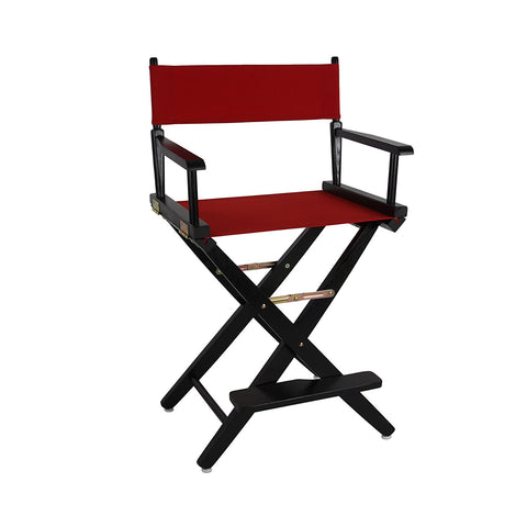 "American Trails Extra-Wide Premium 24"" Directors Chair Black Frame W/Navy Color Cover - 206-22/032-10-Chairs-HipBeds.com"