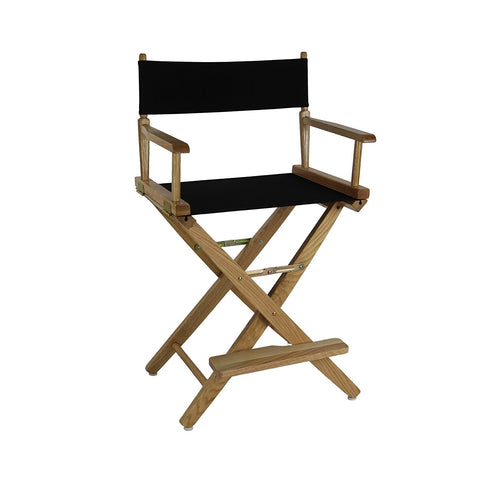 "American Trails Extra-Wide Premium 24"" Directors Chair Mission Oak Frame W/Black Color Cover - 206-24/032-15-Chairs-HipBeds.com"