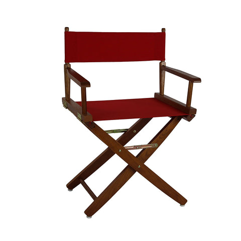 "American Trails Extra-Wide Premium 18"" Directors Chair Mission Oak Frame W/Navy Color Cover - 206-04/032-10-Chairs-HipBeds.com"