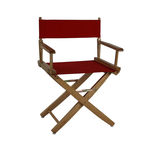 "American Trails Extra-Wide Premium 18"" Directors Chair Natural Frame W/Navy Color Cover - 206-00/032-10-Chairs-HipBeds.com"