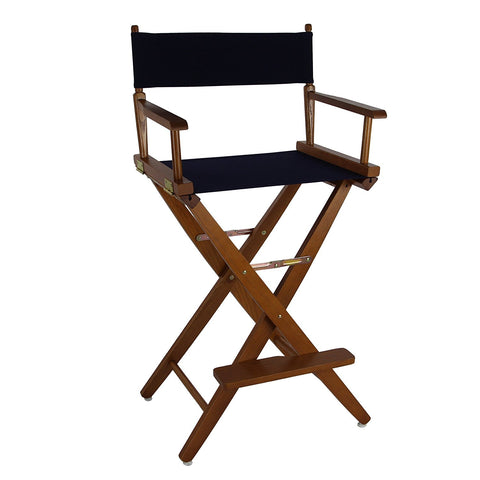 "American Trails Extra-Wide Premium 30"" Directors Chair Mission Oak Frame W/Navy Color Cover - 206-34/032-10-Chairs-HipBeds.com"