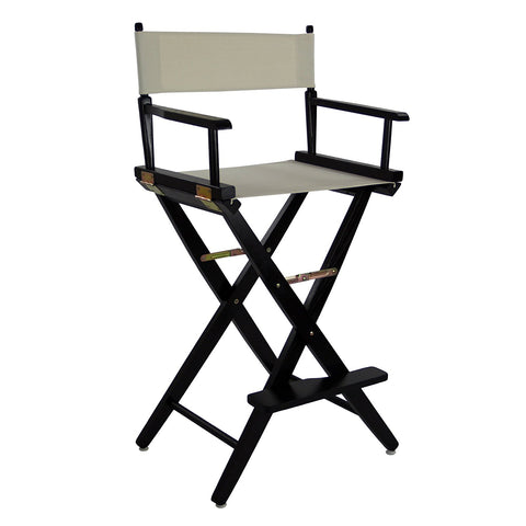 "American Trails Extra-Wide Premium 30"" Directors Chair Black Frame W/Natural Color Cover - 206-32/032-12-Chairs-HipBeds.com"