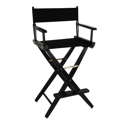 "American Trails Extra-Wide Premium 30"" Directors Chair Black Frame W/Black Color Cover - 206-32/032-15-Chairs-HipBeds.com"