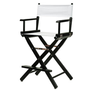 "Casual Home 24"" Director's Chair Black Frame-White Canvas - 220-02/021-29-Chairs-HipBeds.com"