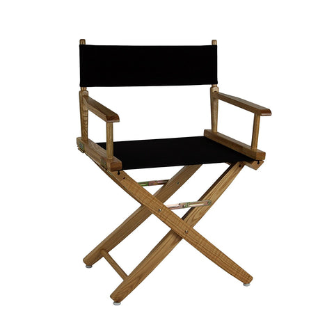 "American Trails Extra-Wide Premium 18"" Directors Chair Natural Frame W/Royal Blue Color Cover - 206-00/032-13-Chairs-HipBeds.com"