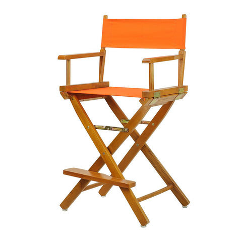 "Casual Home 30"" Director's Chair Honey Oak Frame- Tangerine Canvas - 230-05/021-59-Chairs-HipBeds.com"