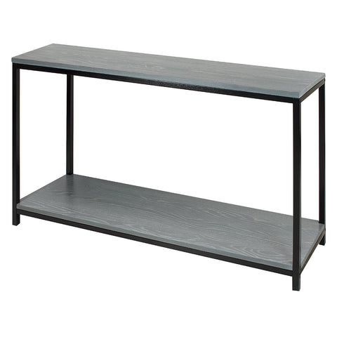American Trails Studio Console Table with Solid Red Oak Top and Shelf - Gray Wash - 695-66-Console Tables-HipBeds.com