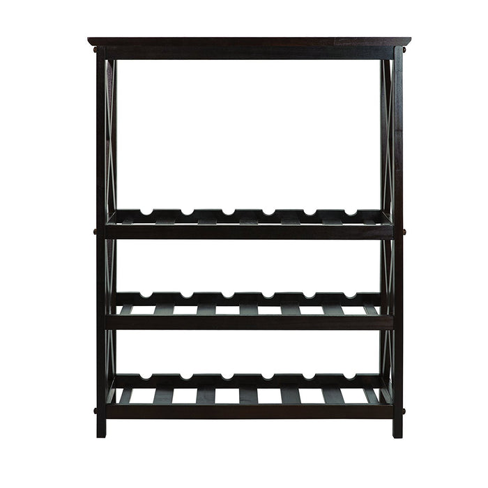 Casual Home Montego X Style Wine Rack- Espresso - 830-44