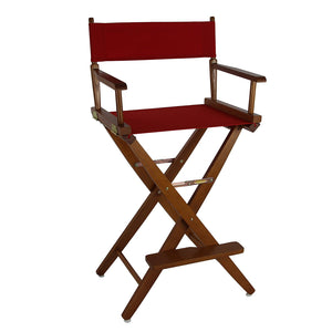 "American Trails Extra-Wide Premium 30"" Directors Chair Mission Oak Frame W/Red Color Cover - 206-34/032-11-Chairs-HipBeds.com"