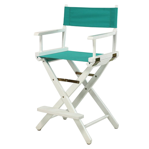 "Casual Home 24"" Director's Chair White Frame-Teal Canvas - 220-01/021-17-Chairs-HipBeds.com"