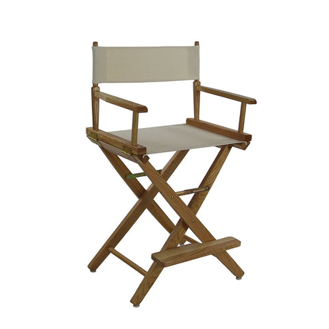 "American Trails Extra-Wide Premium 24"" Directors Chair Mission Oak Frame W/Natural Color Cover - 206-24/032-12-Chairs-HipBeds.com"