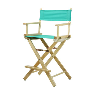 "Casual Home 24"" Director's Chair Natural Frame-Teal Canvas - 220-00/021-17-Chairs-HipBeds.com"