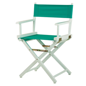 "Casual Home 18"" Director's Chair White Frame-Teal Canvas - 200-01/021-17-Chairs-HipBeds.com"