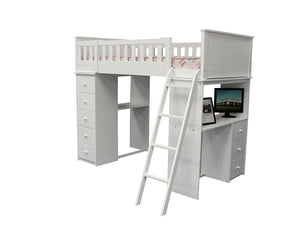 ACME Willoughby Loft Bed White - 10970A-Loft Beds-HipBeds.com