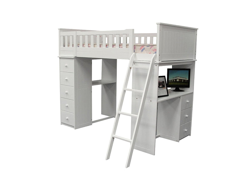 Acme Willoughby Loft Bed White 10970a Hipbeds Com