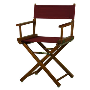 "Casual Home 18"" Director's Chair Honey Oak Frame-Green Canvas - 200-55/021-33-Chairs-HipBeds.com"